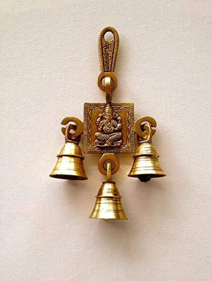 Als Kings And Queens Brass Gift Statue Ganehsa Wall Hanging With 3 Bells