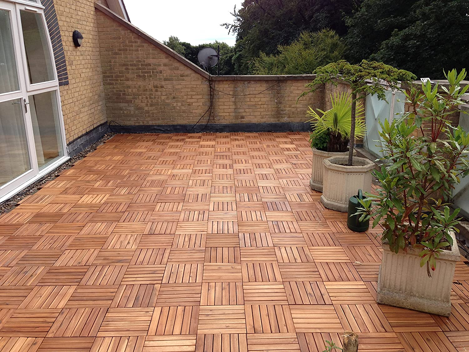 Wood patio tiles source solid wood acacia decking tiles on for Terrace tiles