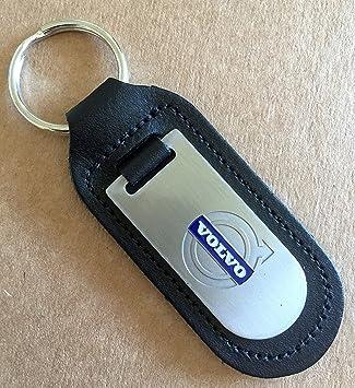 Llavero de Volvo - Llavero de cuero auténtico: Amazon.es ...