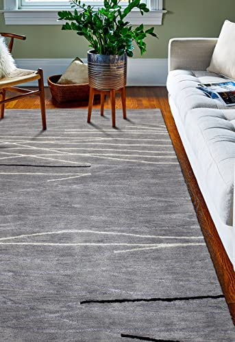 Bashian Collection Hand Tufted Wool Viscose Area Rug
