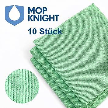 40 x 40 cm Grün Mikrofasertücher Mikrofasertuch 10 Stück Putztuch Größe