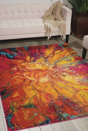 Nourison Celestial Modern Bohemian Cayenne Multicolored Area Rug 5 Feet 3 Inches by 7 feet 3 Inches, 5 3 x 7 3
