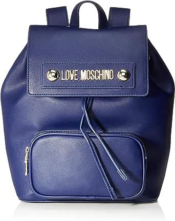 Love Moschino Borsa Natural Grain PU, Bolso tipo mochila para Mujer, Impresión, 28x13x26 centimeters (W x H x L)
