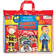T.S. Shure Safety Patrol Wooden Magnetic  Action Heroes