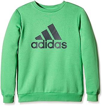 27a1ec63d3ca0 adidas Sweat Essentials Logo garçon 16 Ans Vert: Amazon.fr: Sports ...