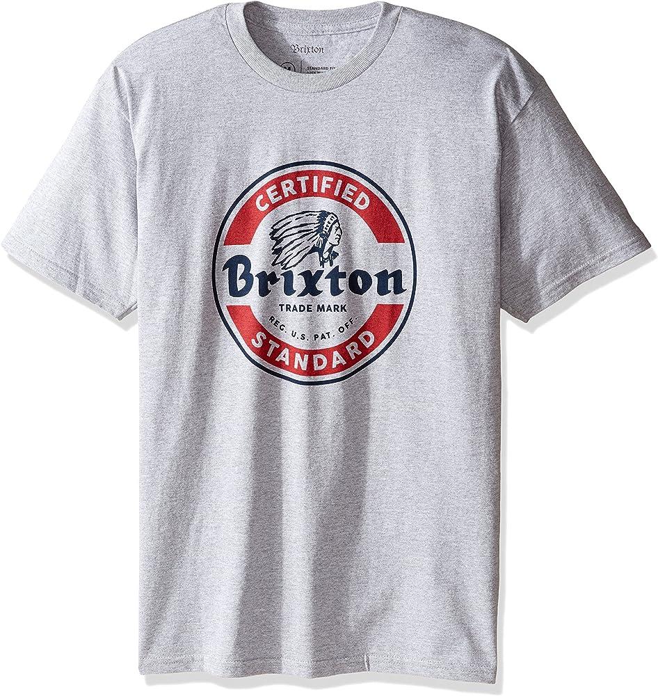 Brixton Camisa Soto SS STND Heather Grey-Red - M: Amazon.es: Ropa y accesorios