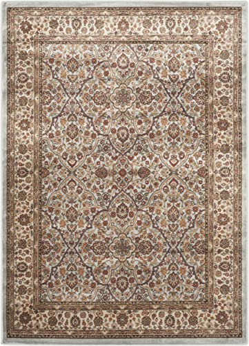 Safavieh Persian Garden Collection Traditional Viscose Area Rug, 8 x 11 , Light Blue Ivory
