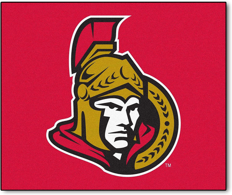 Fanmats NHL Ottawa Senators Nylon Face Hockey Puck Rug