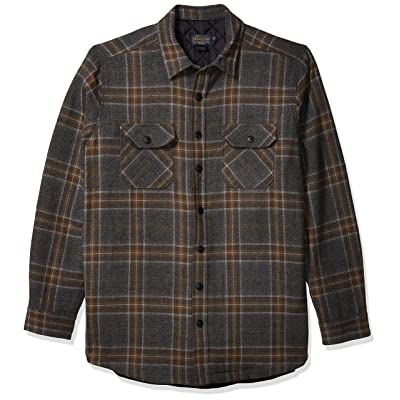 Pendleton Men's Size Quilted CPO in Wool Tall Shirt Jacket at Men's Clothing store