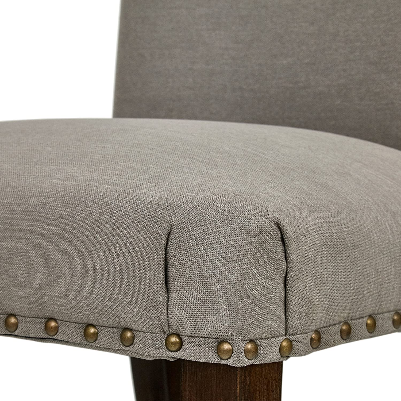 Stone Beam Jenny High-Back Chairs, 39 H, Set of 2, Slate