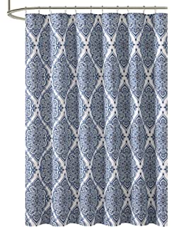 VCNY Home Blue Purple Gray Green Fabric Shower Curtain Floral Geometric Damask Design