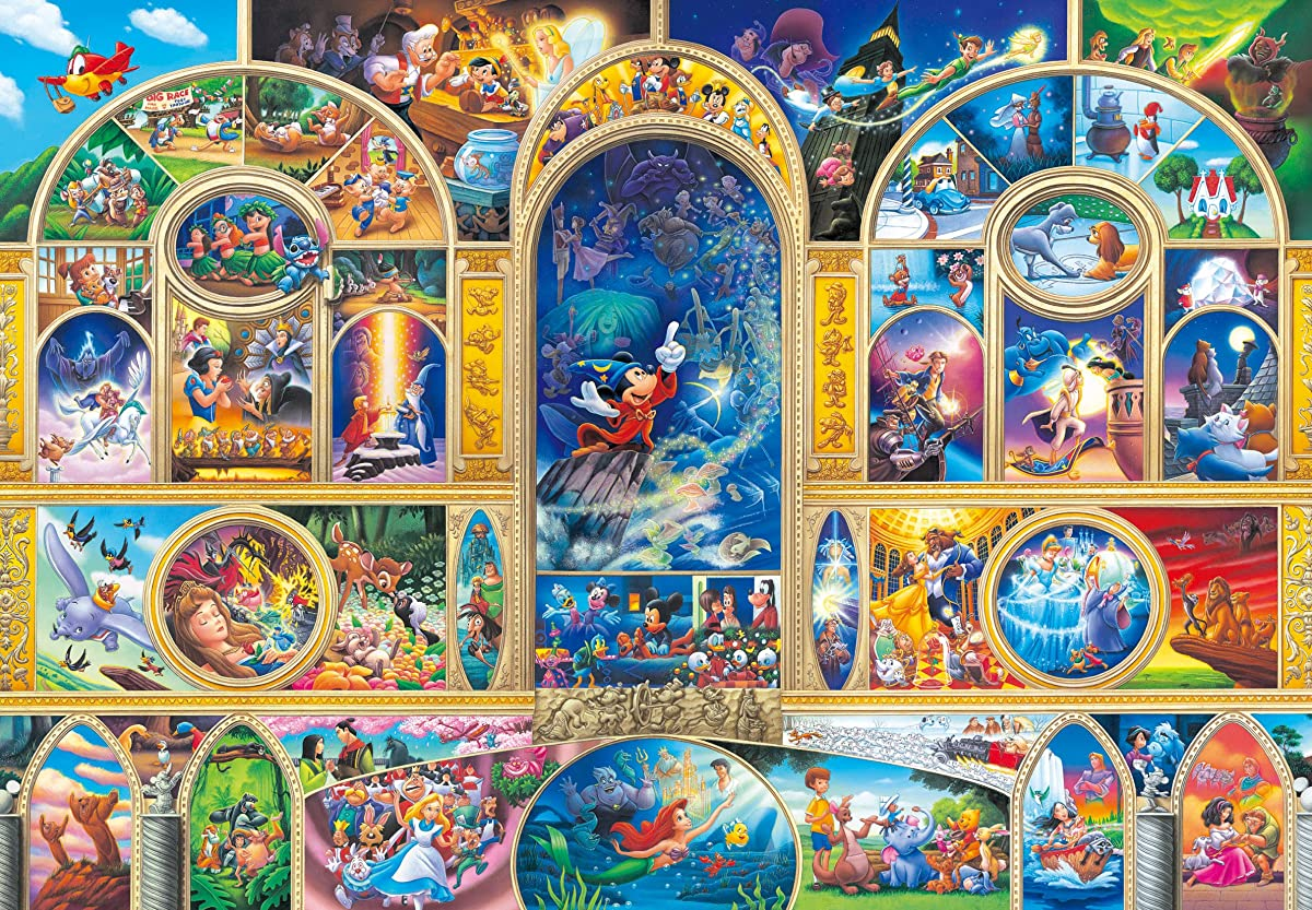 500 Piece Jigsaw Puzzle Disney All Character Dream Gutto Series Stained Art 795864945559 | eBay