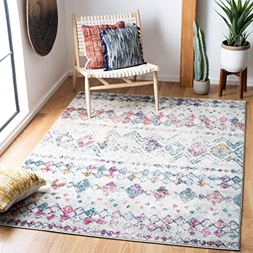 Safavieh Madison Collection MAD798J Moroccan Boho Distressed Non-Shedding Stain Resistant Living Room Bedroom Area Rug