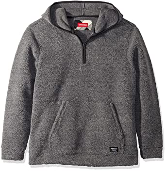 8f3f54c3641a Amazon.com  UNIONBAY Men s Quarter Zip Popover Teddy Bear Fleece Hoodie   Clothing