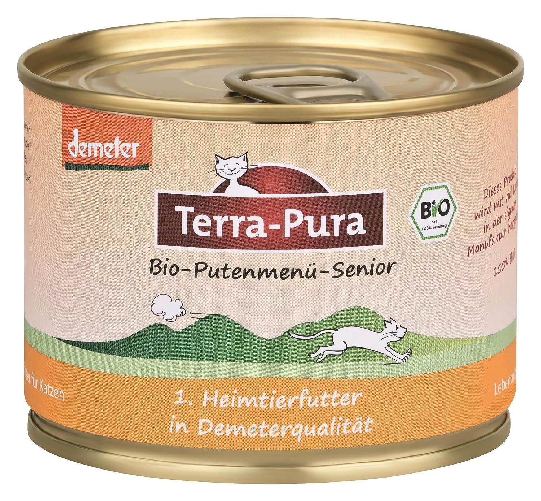 Terra Pura Demeter organic turkey menue for senior cats