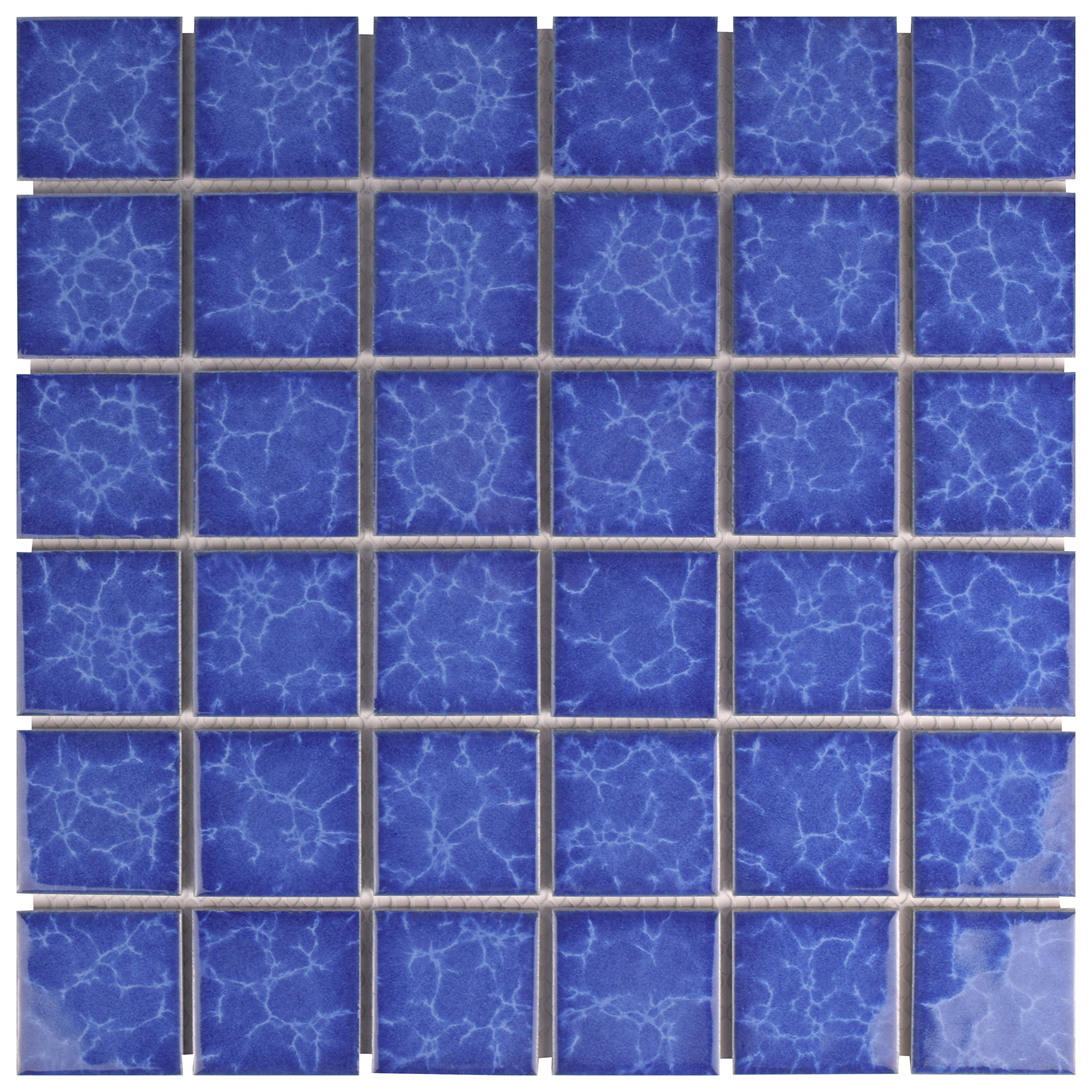 SomerTile FYFW2SCT Waterdesign Square Catalan Porcelain Floor and Wall Tile, 11.875'' x 11.875'', Blue