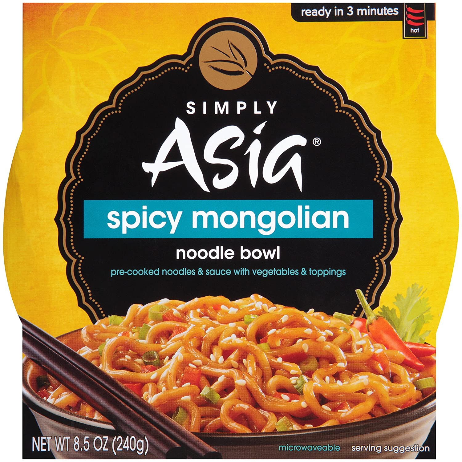 Simply Asia Spicy Mongolian Noodle Bowl, 8.5 Ounce