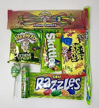 Caja de bombones dulces amargos americanos   Súper Sour US Sweet Gift Box Selection   Surtido