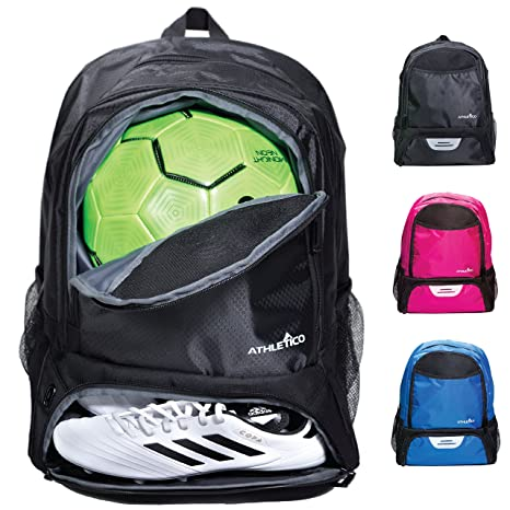 47cdc7f6c9 Athletico Youth Soccer Bag - Soccer Backpack   Bags for Basketball  Volleyball   Football