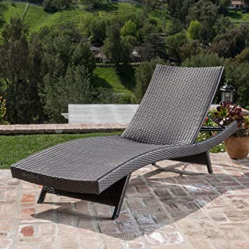 patio chaise lounge chairs. Christopher Knight Home 234420 Salem Patio Chaise Lounge, Multi Brown Lounge Chairs H