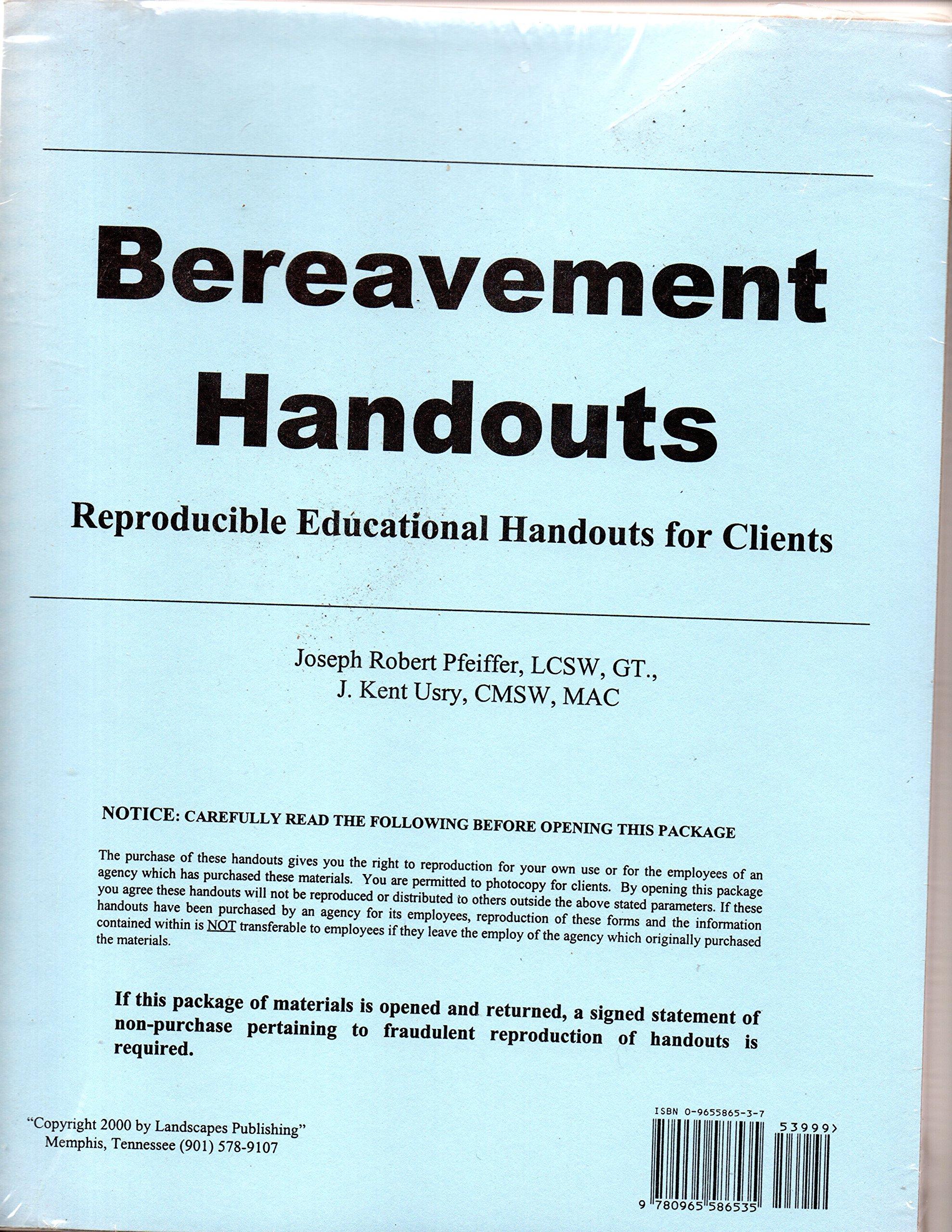 Bereavement Handouts: Reproducible Educational Handouts for ...