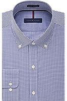 Tommy Hilfiger Men's Non Iron Slim Fit Check Button Down Collar Dress Shirt