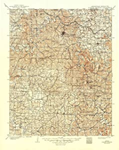 "Map Poster - Eureka Springs, Arkansas (1901), 1:125000 Scale, 24""x19.5"", Gloss Finish"