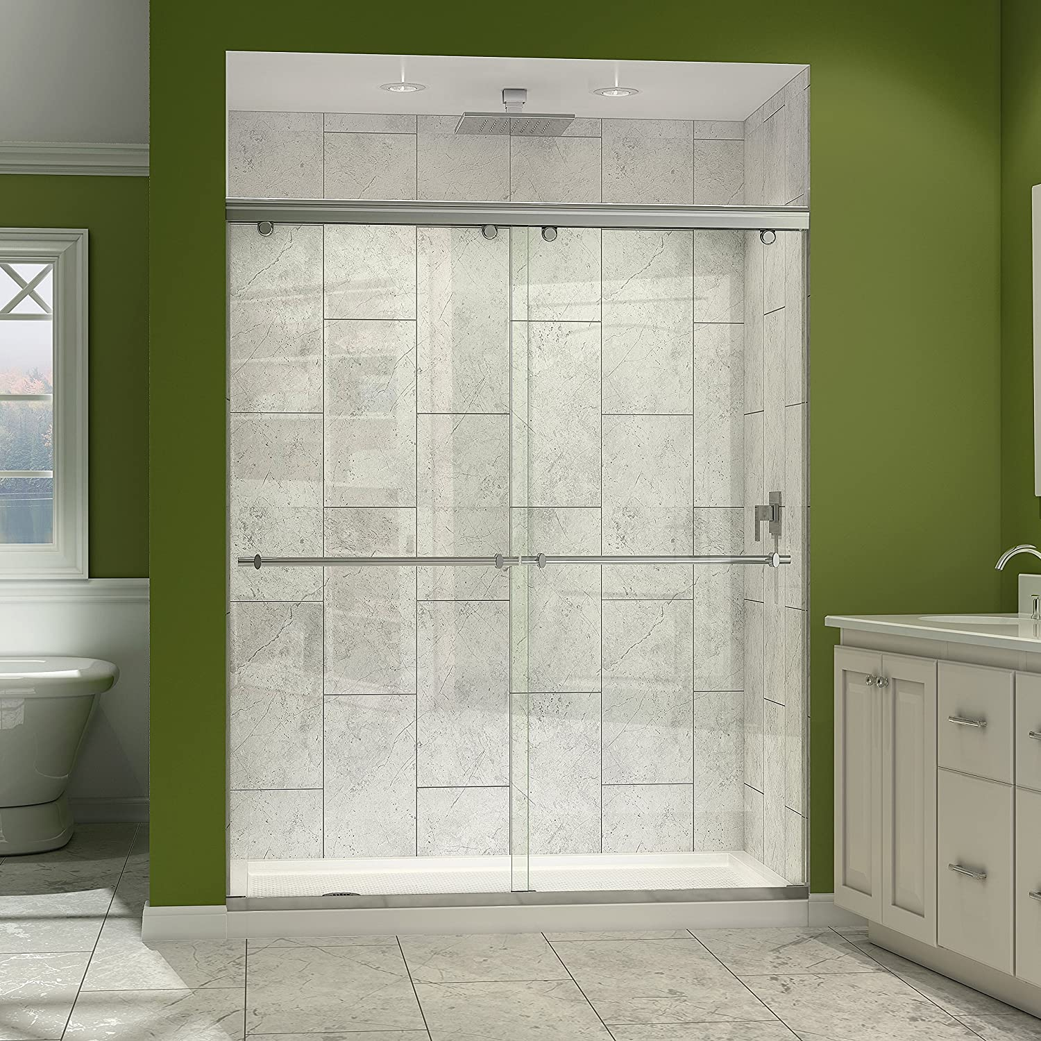 with doors fleurco fixed door tub glide panel in shower line sliding enclosure products