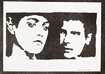 Blade Runner Rachael And Rick Poster Handmade Graffiti Street Art - Artwork