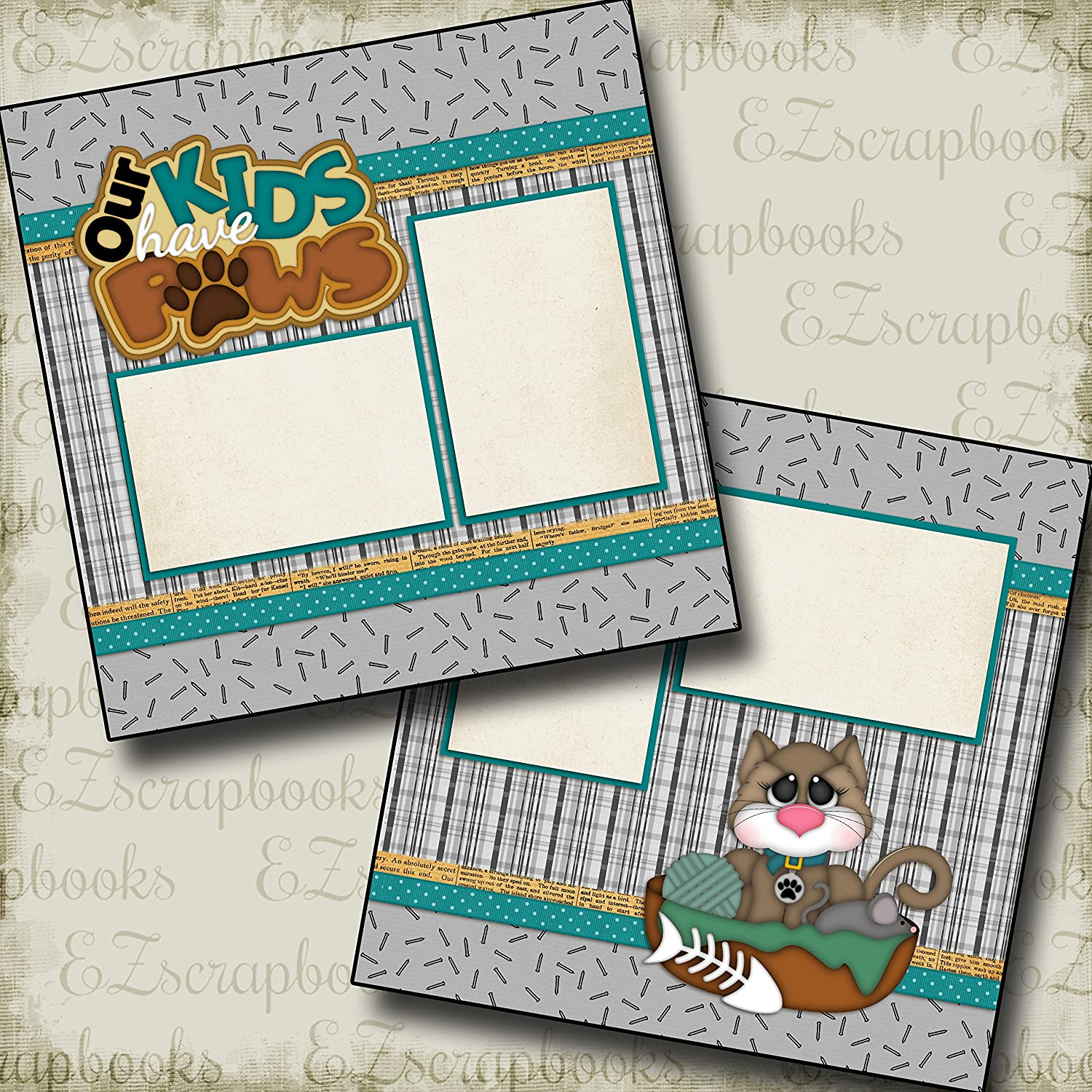EZ Layout 31 Premade Scrapbook Pages MEOW