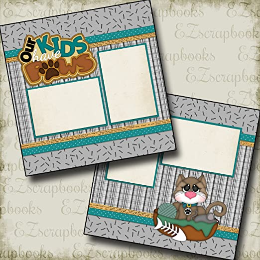 EZ Layout 4032 Premade Scrapbook Pages My New Cat