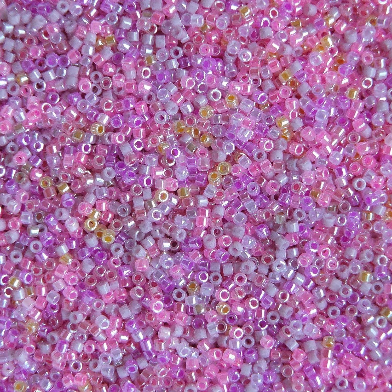 110 Japanese Hex Cut SL PinkPurpleBlues beads set 14g or 30g packets