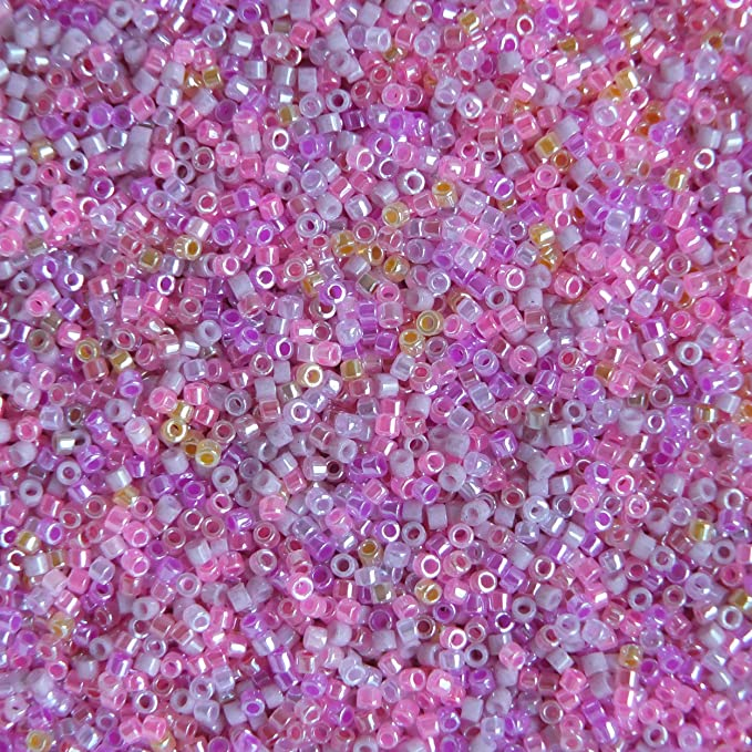 Amazon Com Miyuki Delica Seed Beads 11 0 Colorful Pinks Mix Made In Japan Home Kitchen