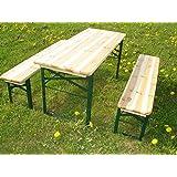 Elmato - Juego de mesa y bancos para exteriores