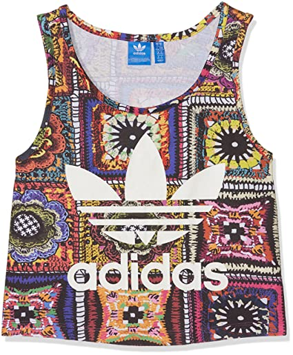 Adidas - Camiseta Tirantes (Tank Top) – Crochita Crop Tank multicolor talla: 40