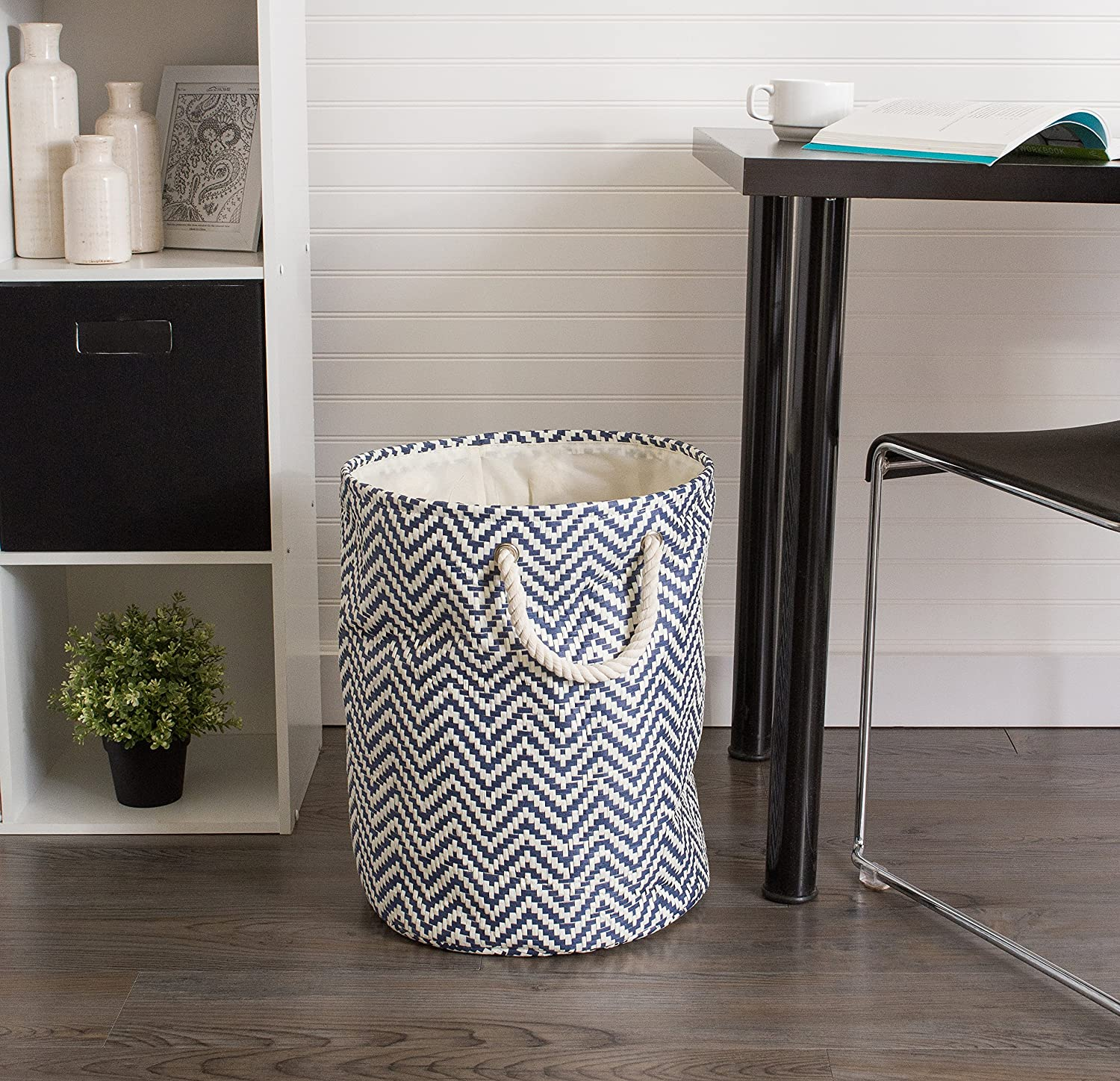 Laundry/ Small Toys - Rust Chevron Collapsible /& Convenient Storage Solution for Office Closet DII Storage Basket or Bin Bedroom