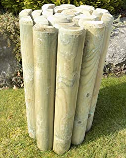 Pack Of 2 X 18 High Log Rolls By Ruddings Wood Wooden Border