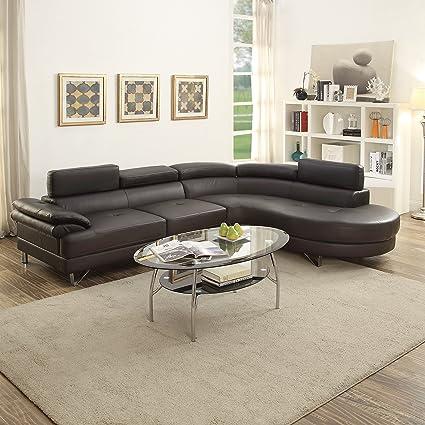 Amazoncom Contemporary Beautiful Bobkona 2pcs Sectional Sofa