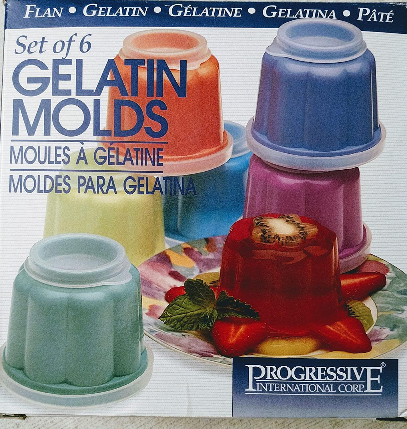 Amazon.com: Progressive Gelatin Mold, Set of 6: Kitchen Tools: Kitchen & Dining