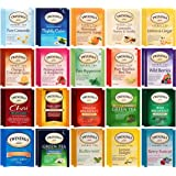 Twinings Herbal & Decaf Tea Bag Sampler - 40 Count Assortment - With 10 By The Cup Honey Stix