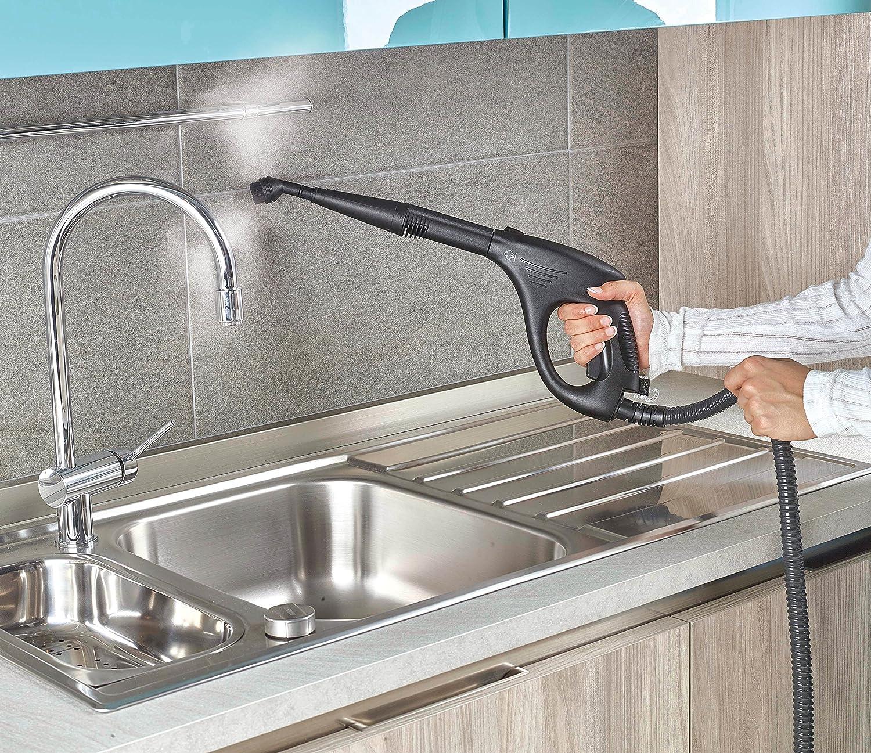 compartimento para accesorios integrado Polti Vaporetto Smart 30/_S Limpiador a vapor 1800 W 3 Bar Gris y blanco