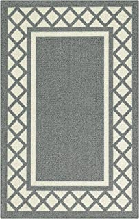 product image for Maples Rugs Bella Kitchen Rugs Non Skid Accent Area Carpet [Made in USA], 2'6 x 3'10, Grey