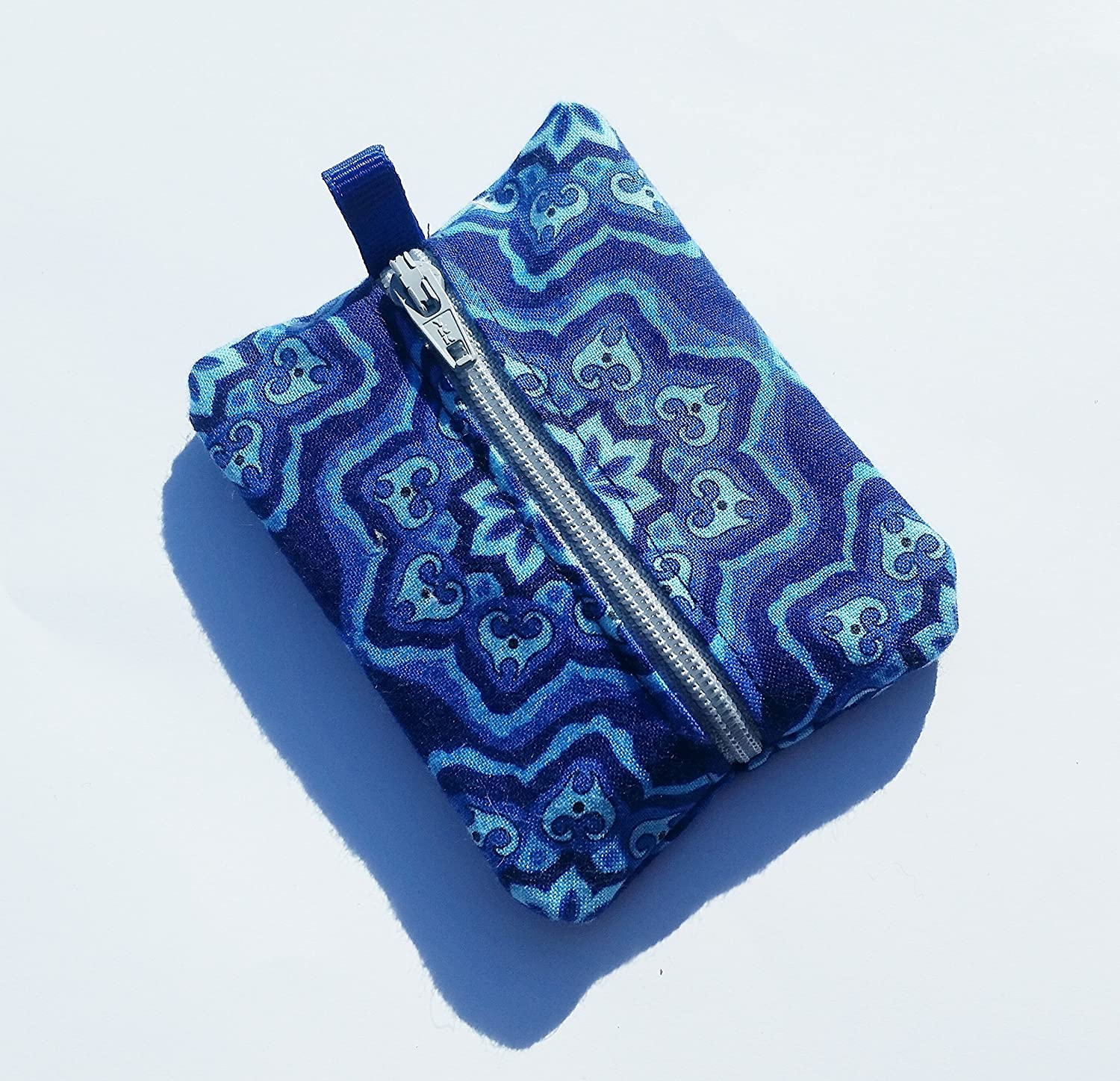 Ear Bud Pouch / Earbud Holder / Zip Pouch / Mini Zip Pouch / Jump Drive Holder ::: Designs in Blue
