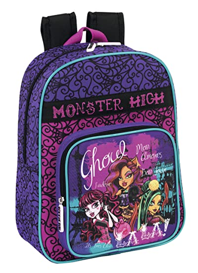 Monster High - Mochila Infantil Adaptable, 26 x 34 x 11 cm (SAFTA 611344185