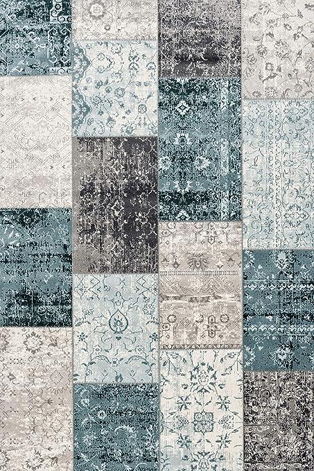 Nouveau doux chenille tissé moderne vichy patchwork vert blanc recouvert de tissu