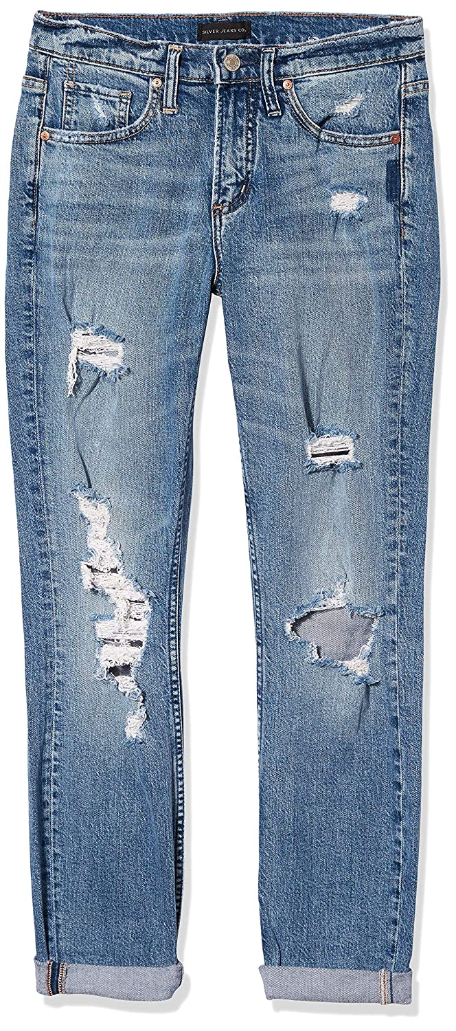 Womens Not Your Boyfriends Mid Rise Jeans Silver Jeans Co