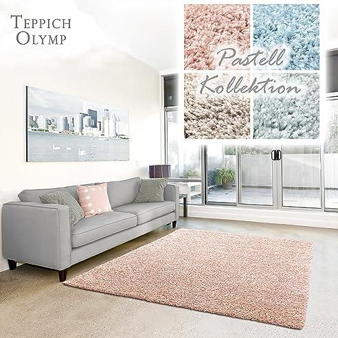 Shaggy Teppich Pastell   Flauschige Hochflor Teppiche Fürs Wohnzimmer,  Esszimmer, Schlafzimmer Oder Kinderzimmer