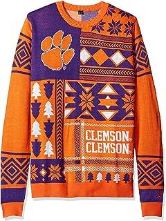 Ohio State Ugly Christmas Sweater.Amazon Com Elite Fan Shop Ncaa Men S Christmas Sweater