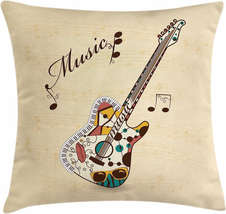 Ambesonne - Funda de cojín para Guitarra, diseño Abstracto de ...