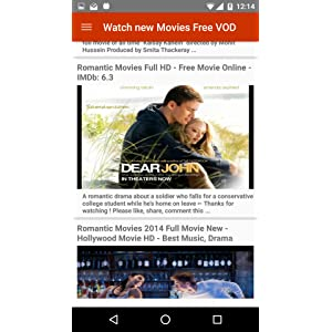 Watch new Movies Free VOD: Amazon ca: Appstore for Android